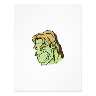 grönt gigantiskt huvud brevhuvud