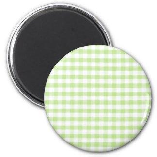 Grönt Ginghammönster för pastell Magnet
