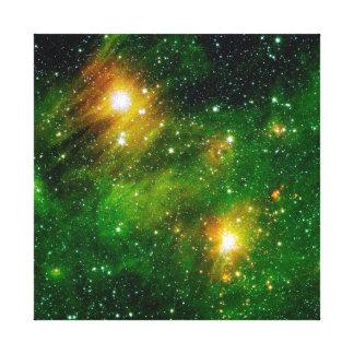 Grönt GL490 gasar molnnebulaen - NASA-utrymmefoto Canvastryck
