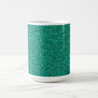 Grönt glitter kaffemugg