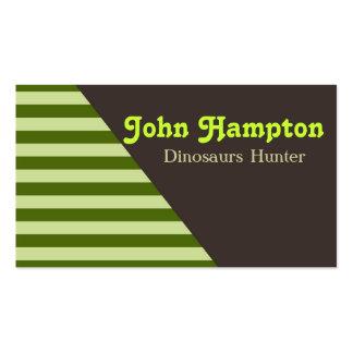 Grönt görar randig dinosaurvisitkorten set av standard visitkort