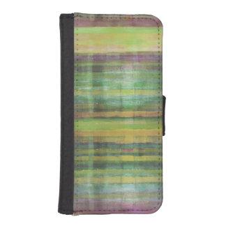 Grönt görat randig mönster iPhone SE/5/5s plånboksfodral