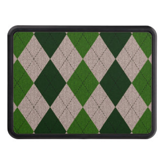 Grönt- & grå färgArgyle mönster Dragkroksskydd