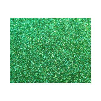 Grönt grafiskt fauxglitter canvastryck