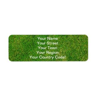 Grönt gräs returadress etikett