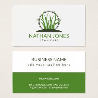 Grönt gräs som landskap leverantören för visitkort