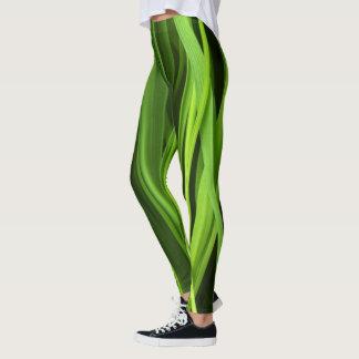 Grönt gräsmönster leggings