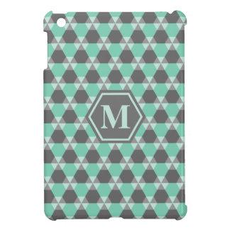 Grönt/grått Triangel-Hex iPadKortkort-Fodral för iPad Mini Fodral
