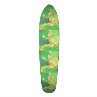 Grönt/guld för abstrakt för old school skateboard bräda 21,6 cm
