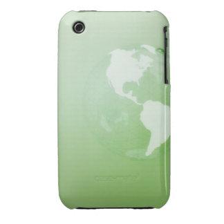 Grönt jordklot iPhone 3 fodraler