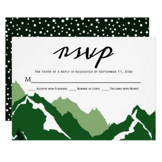 Grönt kort för bergbröllop OSAsvar 8,9 X 12,7 Cm Inbjudningskort