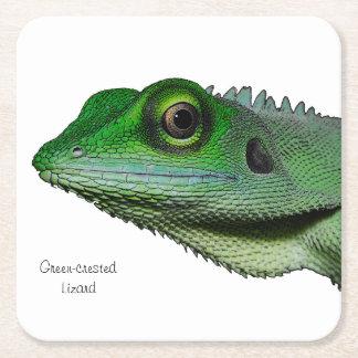 Grönt-krönat ödlaunderlägg underlägg papper kvadrat