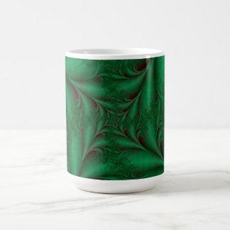 Grönt kvadrerar den spiral muggen kaffemugg
