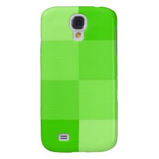 Grönt kvadrerar iphone case galaxy s4 fodral
