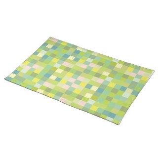 Grönt kvadrerar moderna märkes- bordstabletter för bordstablett