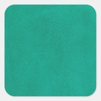 Grönt läder fyrkantigt klistermärke