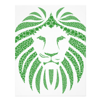 Grönt lejont huvud brevhuvud