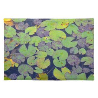 Grönt lilypadsmönster bordstablett