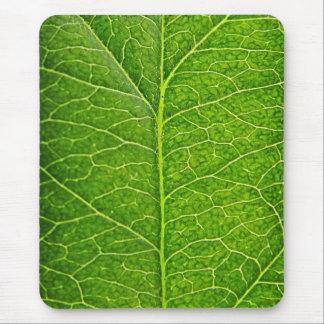 grönt löv musmattor