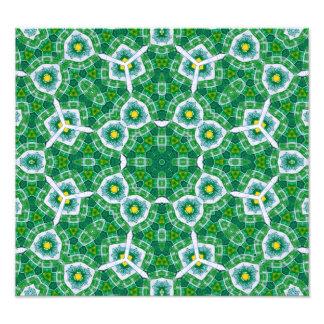 Grönt mångfärgat mönster fotontryck