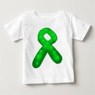 Grönt medvetenhetbandstearinljus t-shirts