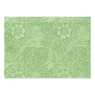 Grönt) mönster för William Morris ringblomma ( Set Av Breda Visitkort