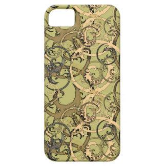 Grönt och beige iPhone 5 Case-Mate skydd