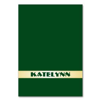 Grönt och för mallställe för guld kända kort