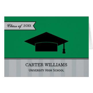 Grönt och grått för studententackkortkort