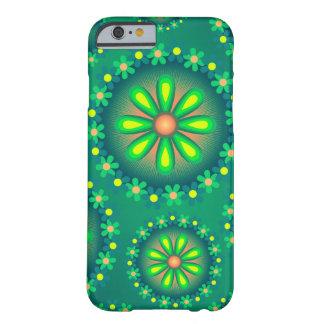 Grönt- och gultblommafodral barely there iPhone 6 skal