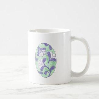 Grönt och Lavendar att slå ned kretsar Kaffemugg