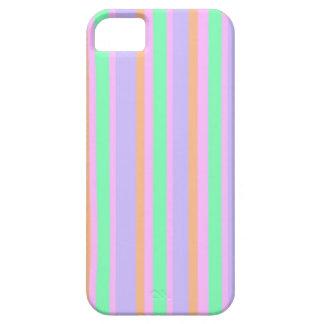 Grönt och orange celltelefonfodral för rosa lilor iPhone 5 skydd