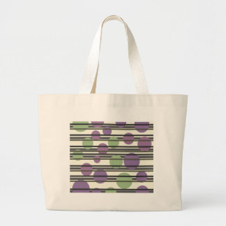 Grönt och purpurfärgat enkelt mönster jumbo tygkasse