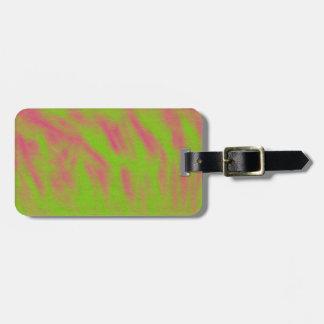 Grönt- och rosaabstraktmärkre bagage etiketter