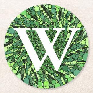 Grönt och svarten cirklar det geometriska mönster underlägg papper rund