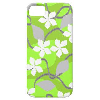 Grönt- och vitblommor. Blom- modell Barely There iPhone 5 Fodral