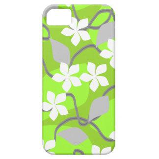 Grönt- och vitblommor. Blom- modell iPhone 5 Case-Mate Skal