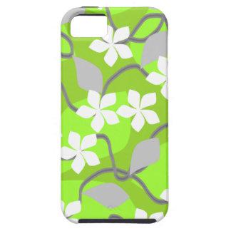 Grönt- och vitblommor. Blom- modell iPhone 5 Skydd