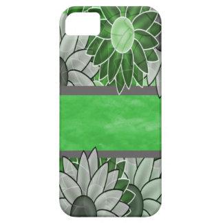 Grönt- och vitblommor iPhone 5 skydd