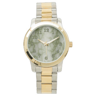 Grönt- och vitmarmoraffär armbandsur