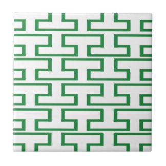 Grönt- och vittegelstenar kakelplatta