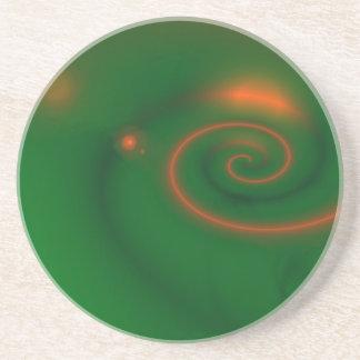 Grönt & orangeabstrakt underlägg