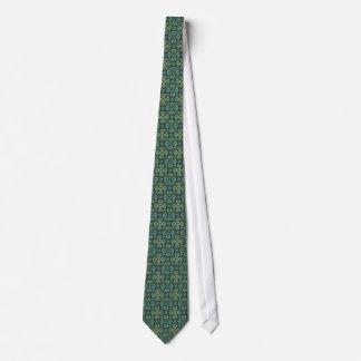 Grönt på grönt motiv slips