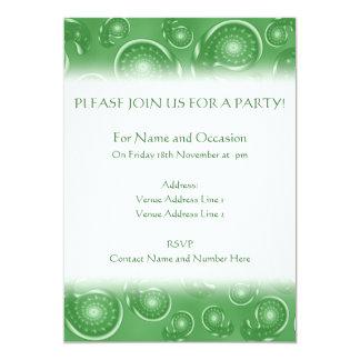 Grönt Paisley mönster 12,7 X 17,8 Cm Inbjudningskort