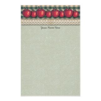 Grönt plädland för röda äpplen brevpapper