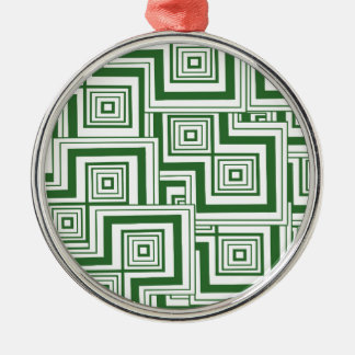 Grönt pussel julgransprydnad metall