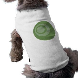 Grönt retro cirklar hundtröjan hund tee shirt