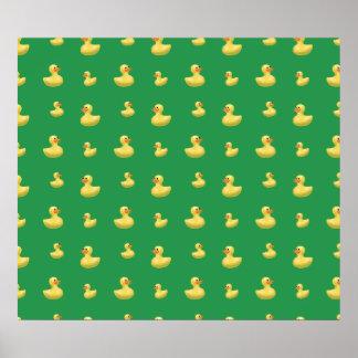 Grönt rubber ankamönster affisch