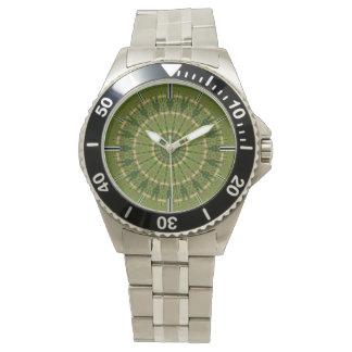 Grönt rullar Mandalakaleidoscopen Armbandsur