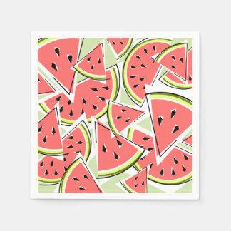 Grönt servettpapper för vattenmelon servetter